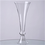 "18"" Trumpet Pilsner Glass Floral Vase Centerpiece For Event Table Décor - Pack of 4"