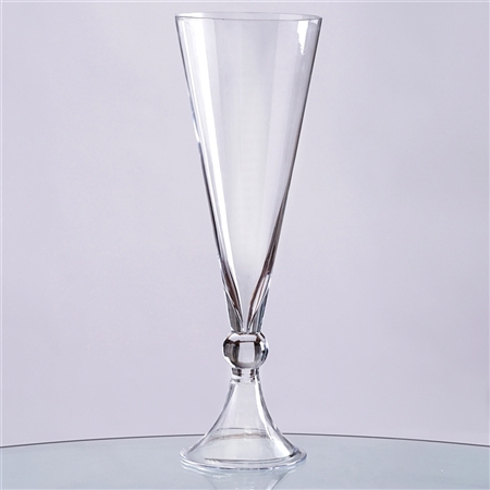 "16"" Reversible Trumpet Pilsner Glass Floral Centerpiece For Event Table Décor - Pack of 4"