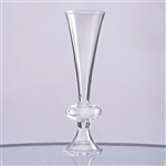 "11"" Trumpet Pilsner Glass Floral Vase Centerpiece For Event Table Décor - Pack of 4"