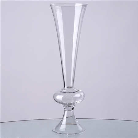 "15"" Tall Trumpet Pilsner Glass Floral Vase Centerpiece For Wedding Event Table Décor - Pack of 4"