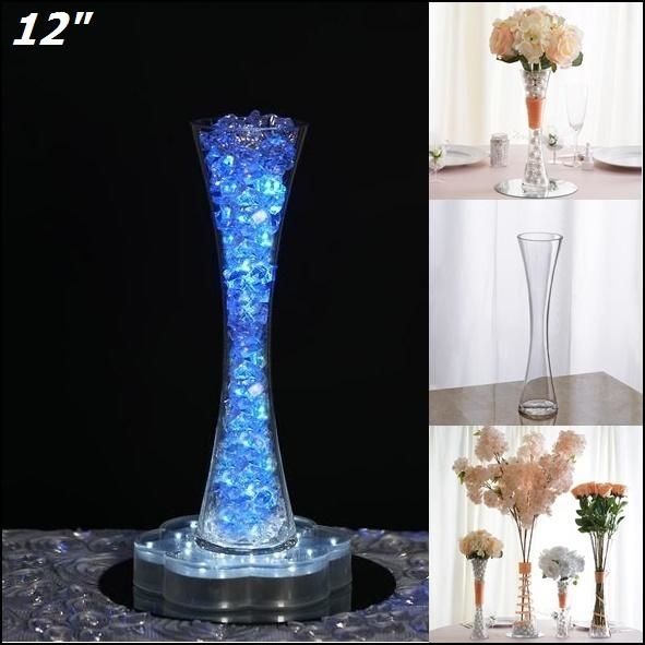 12 Clear Hourglass Shaped Vase Wedding Party Decoration