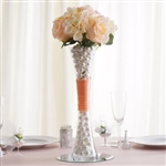 "16"" Clear Hourglass Shaped Floral Centerpiece Vase Wedding Party Decoration - Pack of 12"