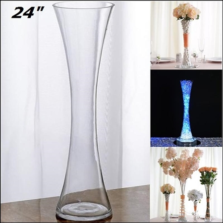 "24"" Hourglass Shaped Floral Centerpiece Vase Party Decoration - Pack of 6"