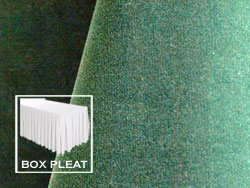 Box Pleat Velvet Table Skirts - 6 Foot Table - 17 Foot Section - 2-Pack