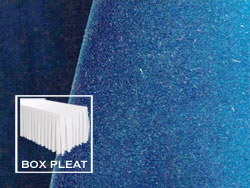 Box Pleat Velvet Table Skirts - 8 Foot Table - 21 Foot Section - 2-Pack
