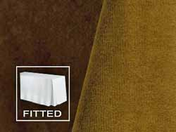6FT Premium Velvet Fitted Tablecloth with Inverted Pleats