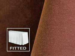 8FT Premium Velvet Fitted Tablecloth with Inverted Pleats