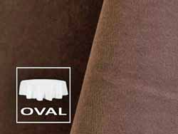 "108"" x 132"" Premium Velvet Oval Tablecloth"