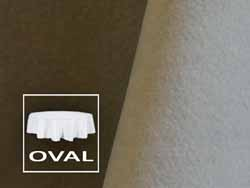 "108"" x 156"" Premium Velvet Oval Tablecloth"