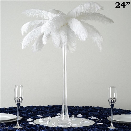 "12/Set 24"" Eiffel Tower Vases (Clear)"