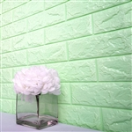 58 Sq. Ft Seafoam Green 3D Faux Foam Bricks Self-adhesive Waterproof Art Wall Panel -  Pack of 10