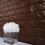 58 Sq. Ft Chocolate 3D Faux Foam Bricks Self-adhesive Waterproof Art Wall Panel -  Pack of 10
