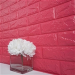 58 Sq. Ft Rose Quartz 3D Faux Foam Bricks Self-adhesive Waterproof Art Wall Panel -  Pack of 10