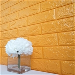 58 Sq. Ft Gold 3D Faux Foam Bricks Self-adhesive Waterproof Art Wall Panel -  Pack of 10