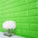 58 Sq. Ft Green 3D Faux Foam Bricks Self-adhesive Waterproof Art Wall Panel -  Pack of 10