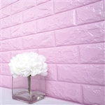 58 Sq. Ft Lavender 3D Faux Foam Bricks Self-adhesive Waterproof Art Wall Panel -  Pack of 10