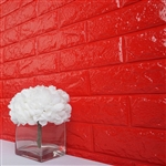 58 Sq. Ft Red 3D Faux Foam Bricks Self-adhesive Waterproof Art Wall Panel -  Pack of 10