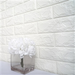 58 Sq. Ft White 3D Faux Foam Bricks Self-adhesive Waterproof Art Wall Panel -  Pack of 10
