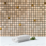 10 Sq.Ft Mosaic Copper Metal Wall Tiles Peel and Stick Backsplash 3D Wall Panels - 10 Pack