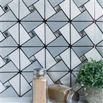 10 Sq. Ft Silver Metal Wall Tiles Peel and Stick Backsplash Rhinestone Studded 3D Wall Panels - 10 Pack