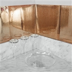 "12""x12"" Rose Gold Peel and Stick Mosaic Mirror Wall Tiles - 10 Pack"