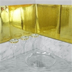 "12""x12"" Gold Peel and Stick Mosaic Mirror Wall Tiles - 10 Pack"