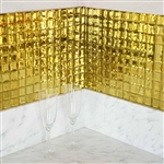 "12""x12"" Gold Peel and Stick Mirror Wall Tiles - 10 Pack"