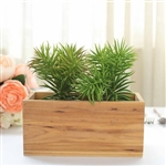 8x4'' Natural Rectangular Wood Planter Box Set With Removable Plastic Liners - 4 Pack