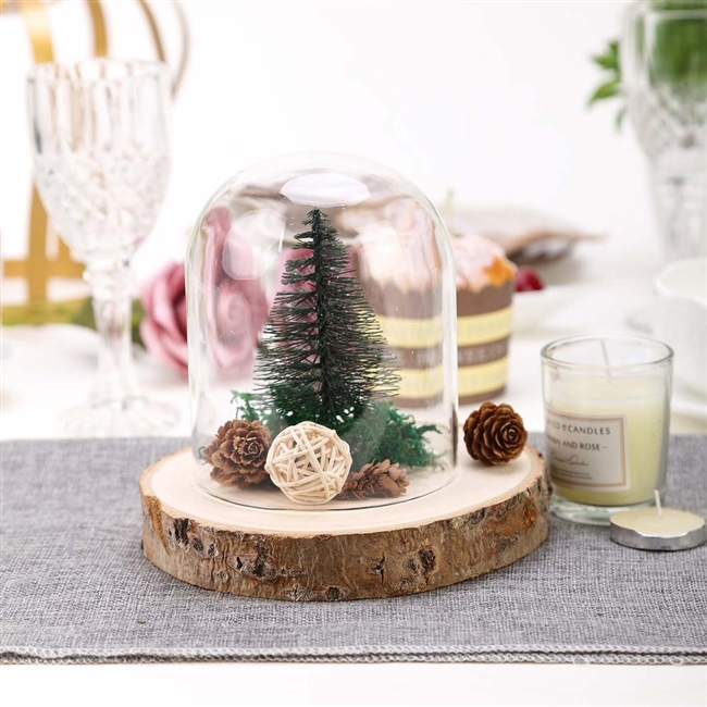 Rustic Natural Wood Slices Round Poplar Wooden Slab Table Centerpiece