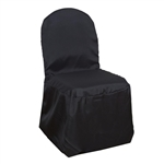 Poly Banquet Chair Cover - Black