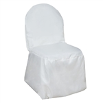 Poly Banquet Chair Cover - Ivory