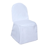 Poly Banquet Chair Cover - White
