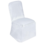 Square Banquet / Chivari Chair Cover - White