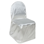 Satin Banquet Chair Cover - Satin Ivory