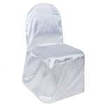 Satin Banquet Chair Cover - Satin White