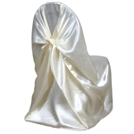 Universal Satin Chair Cover - Ivory