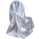 Universal Satin Chair Cover - White