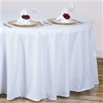 "White 120"" Round Tablecloth"