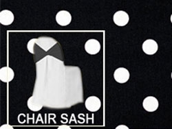Premium Polka Dot Chair Sash