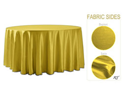 "Double Sided Satin / Dupioni 126"" Round Tablecloth"