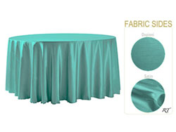"Double Sided Satin / Dupioni 96"" Round Tablecloth"
