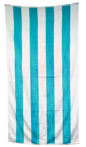 30x62 Terry Velour Cabana Stripe Beach Towels