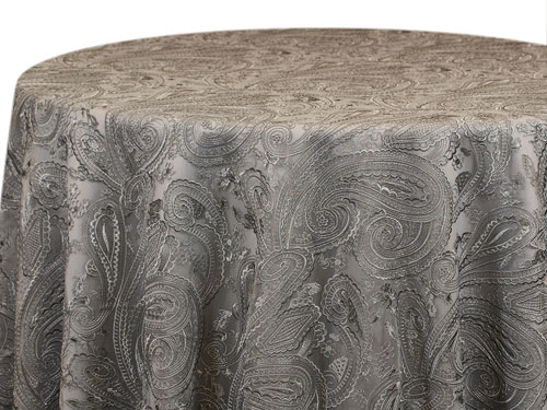 Rental 132 Paisley Lace Round Tablecloth