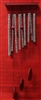 Medium wind chimes cherry wood chrome Model 10012