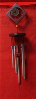 Diamond design wood wind chimes Silver Model 5482