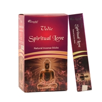 Vedic Spiritual Love Natural Incense Sticks (Box of 12 X 15 grams)