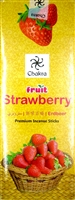 Chakra - Fruit - Strawberry- Incense Sticks (Box of 6 packs of 20 sticks)