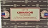 Satya Cinnamon 15 gram incense (Dozen, Box of 12 packs of 15 grams each)