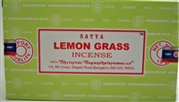 Satya Lemon Grass 15 gram incense (Dozen, Box of 12 packs of 15 grams each)