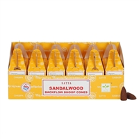 [Backflow] Satya Sandalwood Backflow Cones (Box of 6 Packs)